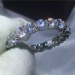 NEW Super Bling 925 Sterling Silver CZ Band Ring